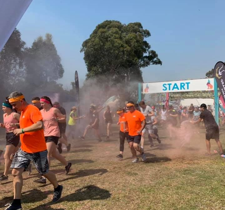 Iris makes a splash at Raw Challenge Colour Run